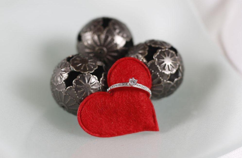 Verlobungsring – Weißgold – Brillant