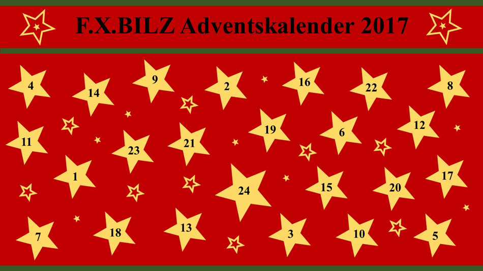 F.X.BILZ Facebook Adventskalender 2017